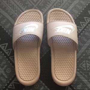 Lilac Nike Slides